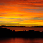Sunset from the Isla del Sol, Lake Titicaca